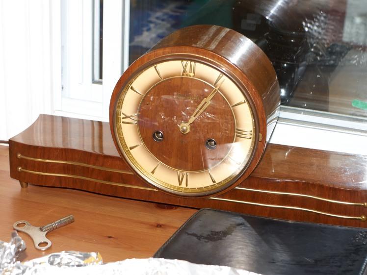 Forestville time and strike mantel clock