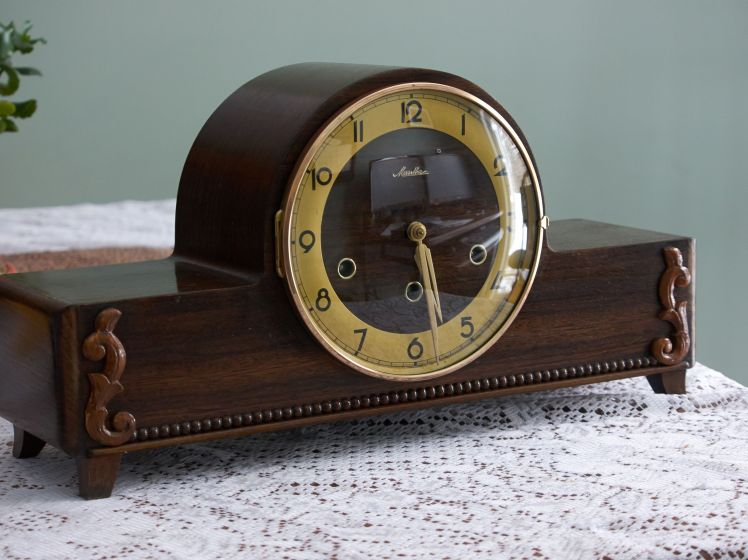 Mauthe mantel clock with Westminster chime
