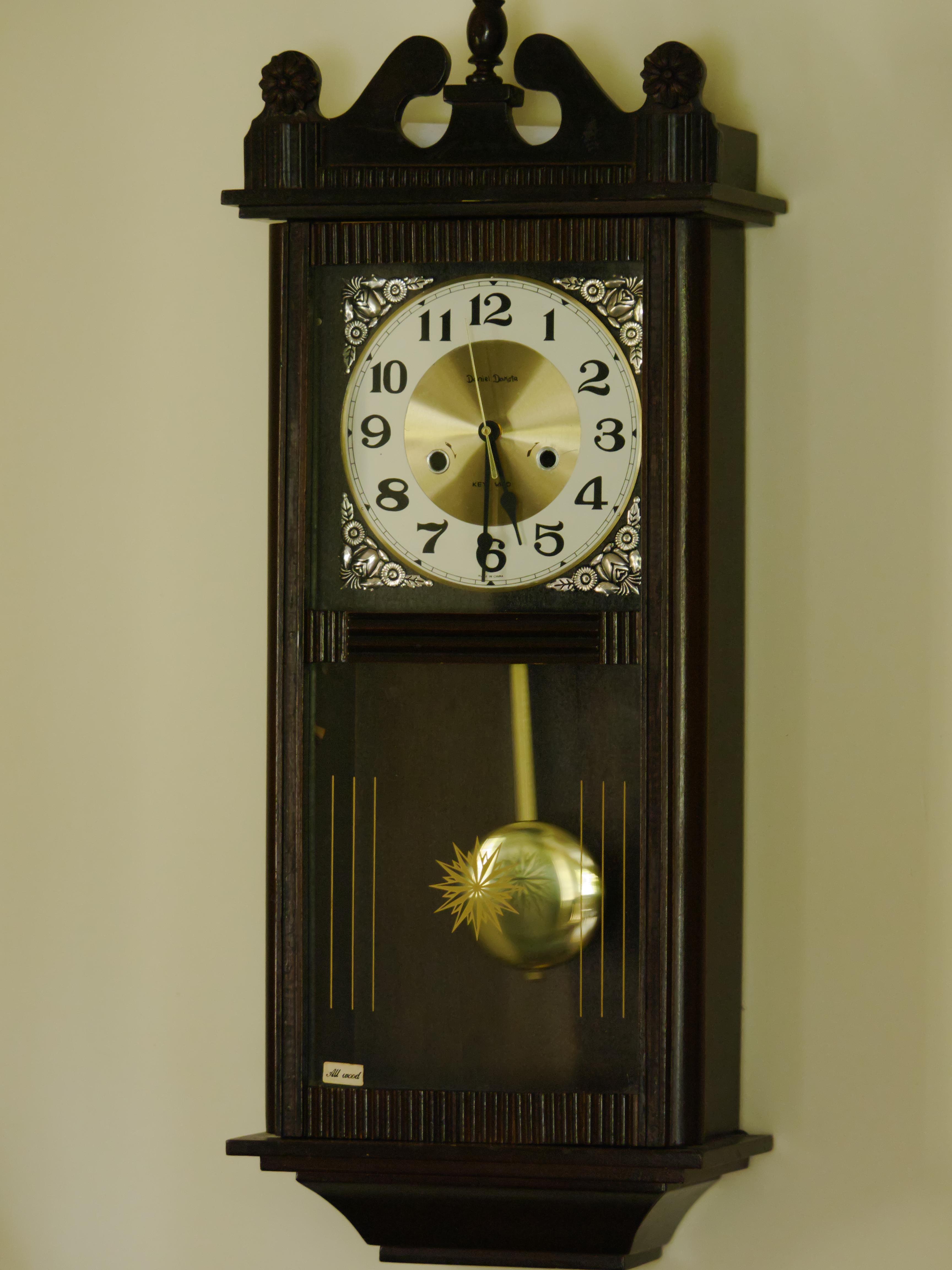 Daniel dakota wall clock antique and vintage clock collecting converted daniel dakota amipublicfo Choice Image