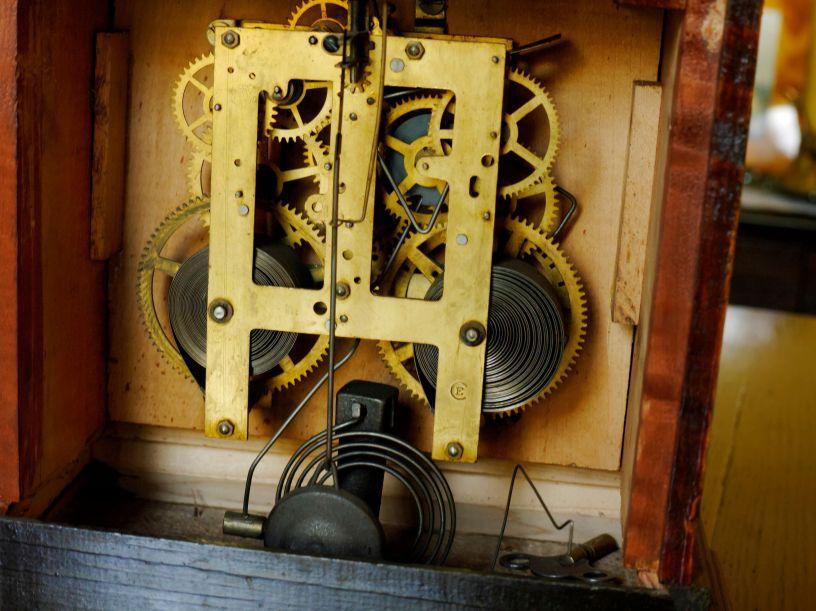 Sessions Mission Oak mantel clock