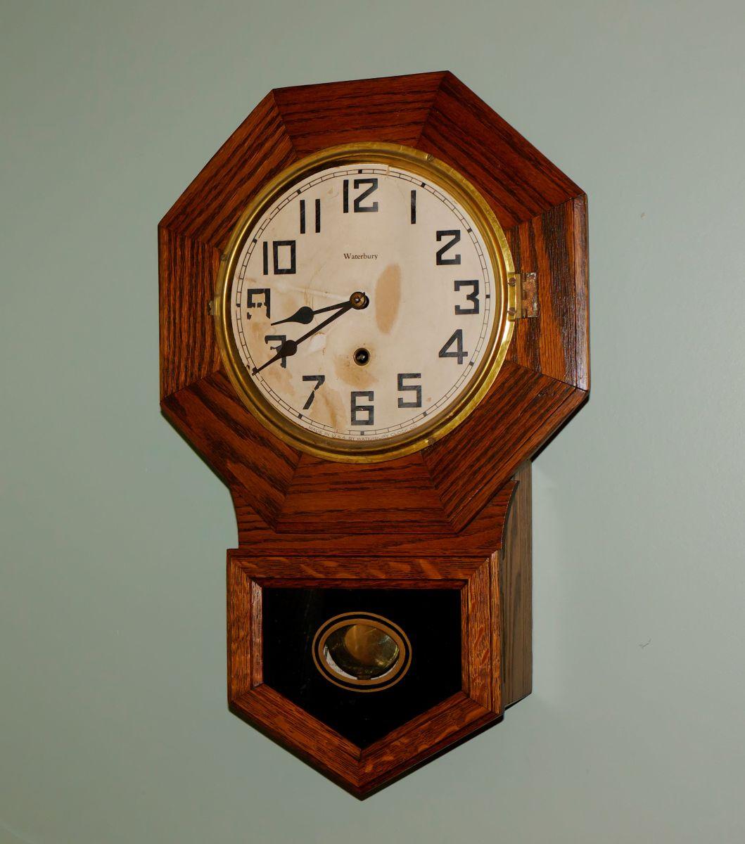 "Waterbury ""Arion"" Small Octagon Short Drop wall clock ..."