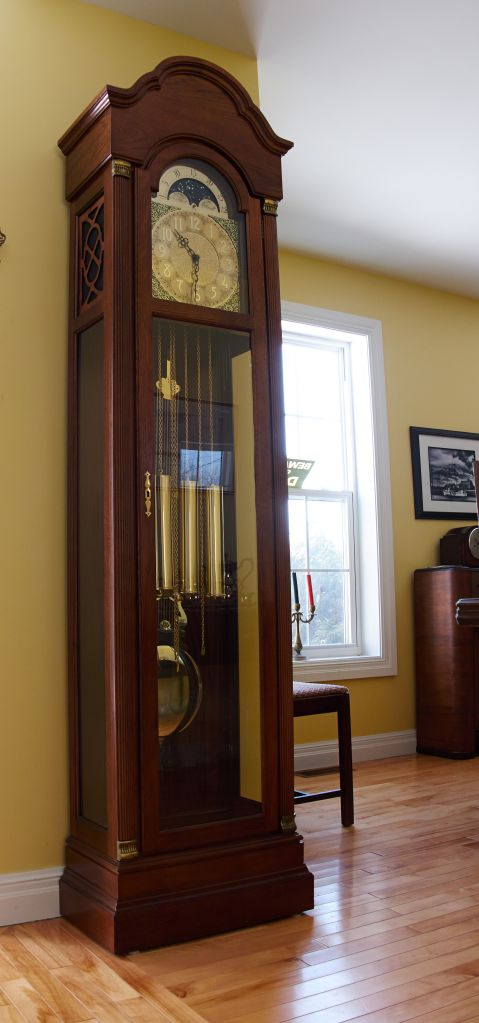 Grandfather clocks are often refereed to as tall clocks long case clocks and floor clocks