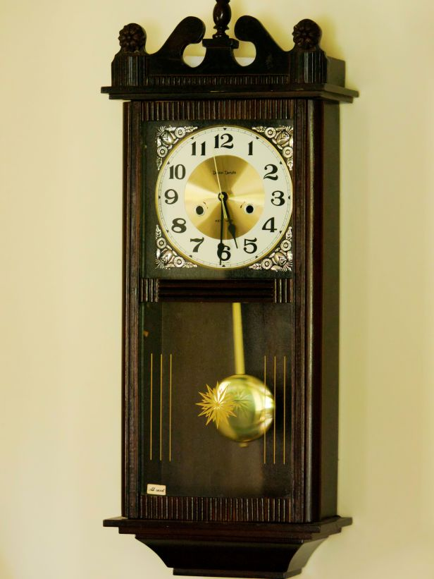 Converted from a mechanical clock