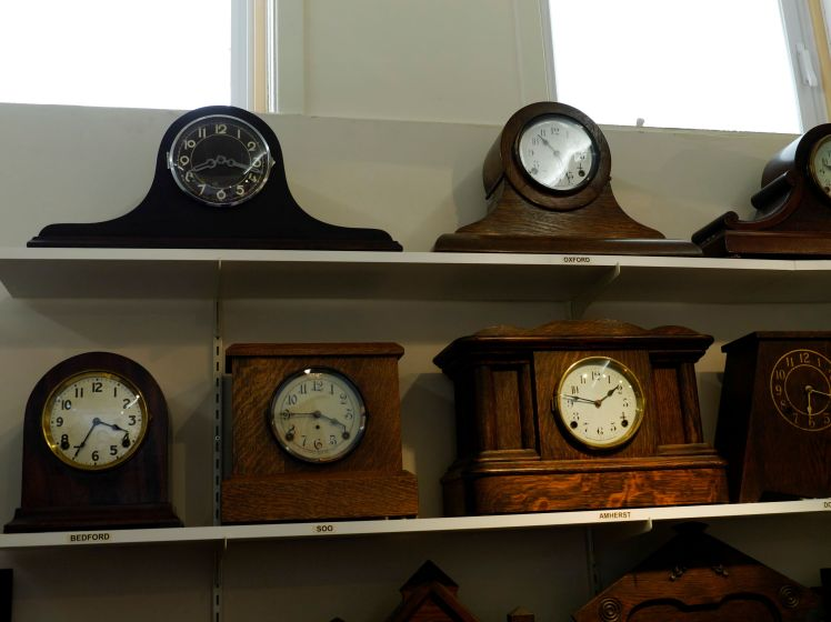 Mantel clocks in all shapes and sizes