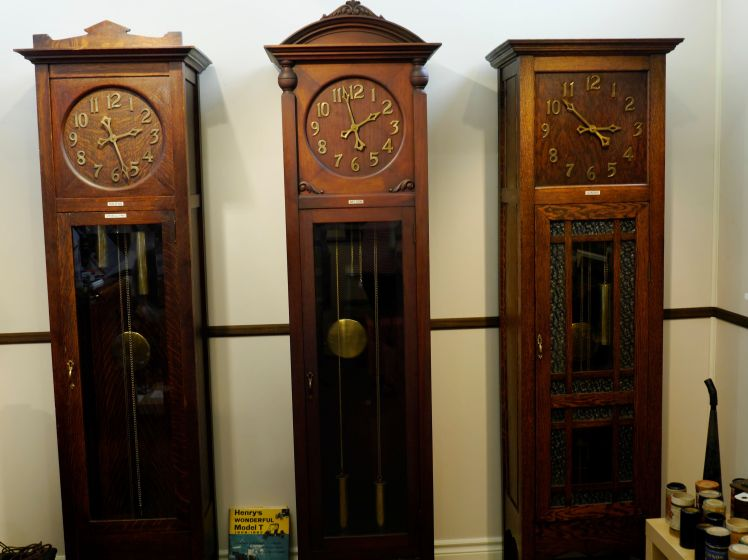 Tall case clocks made by Arthur Pequegnat