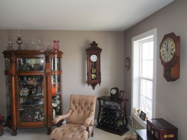 clocks in a living room