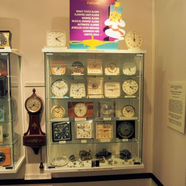 Westclox display at the Candian Clock Museum