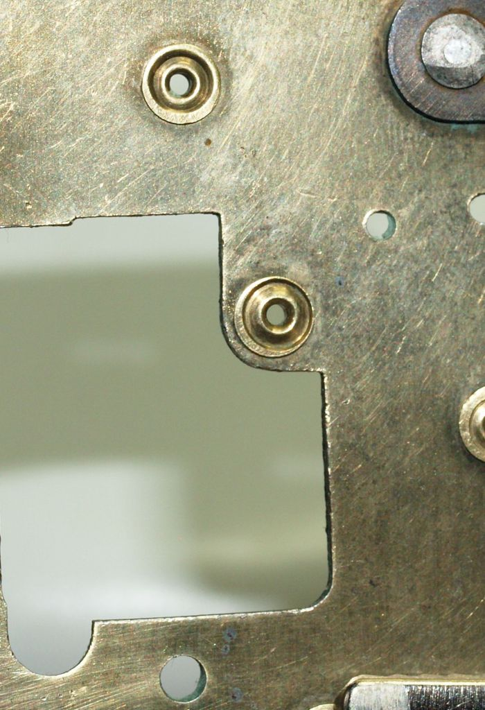 Reverse side of punched bushing
