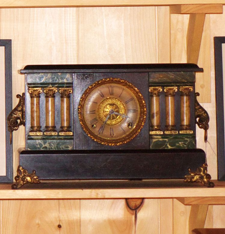 Sessions six pillar mantel clock