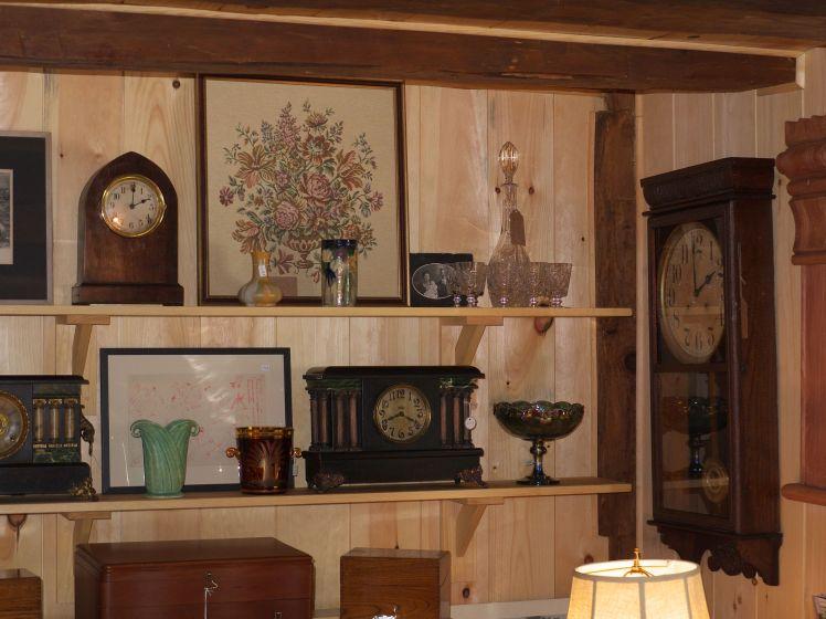 Collection of beehive, six pillar Seth Thomas and Waterbury wall clock
