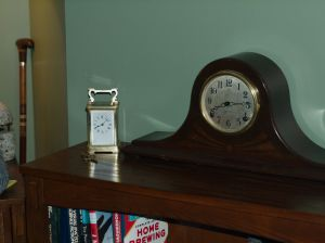 Sessions Beveled #2 and carriage clock