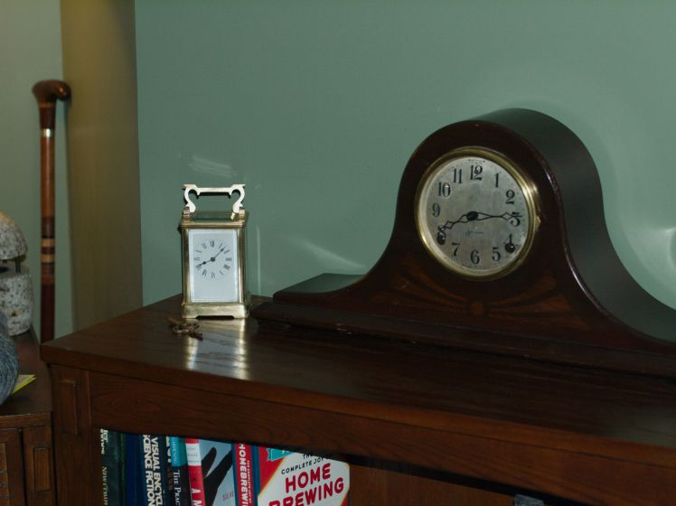 Sessions Beveled No 2 tambour style clock and French carriage clock