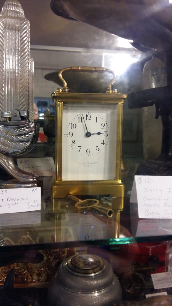 Carriage clock with Jeweler's inscription