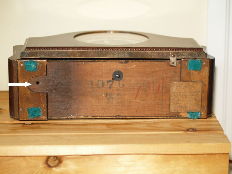 View of bottom of case