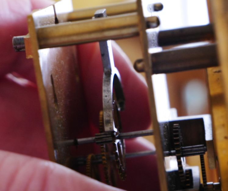 Escapement closeup