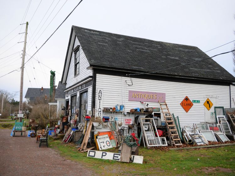 Rural Nova Scotia antique shop