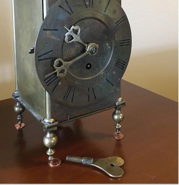 Converted lantern clock