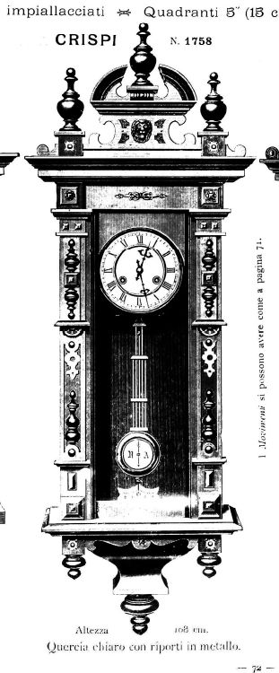 The Crispi in the 1902 Yunghans catalog