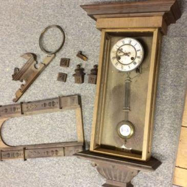 Junghans clock in pieces
