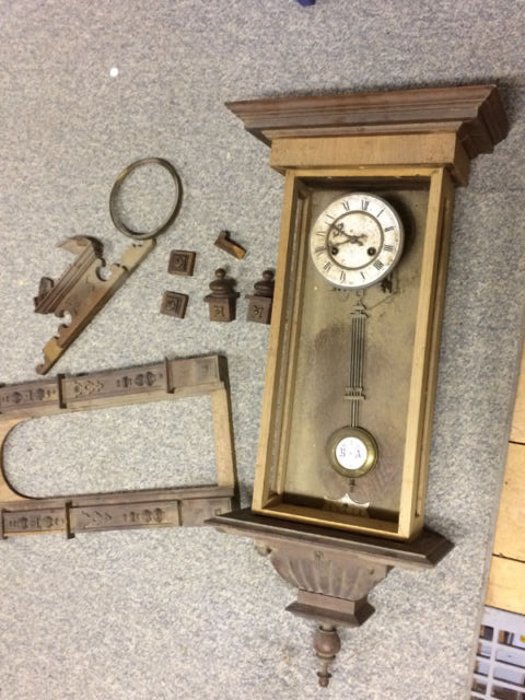 Junghans clock in pieces
