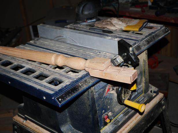 Oak stairway spindle