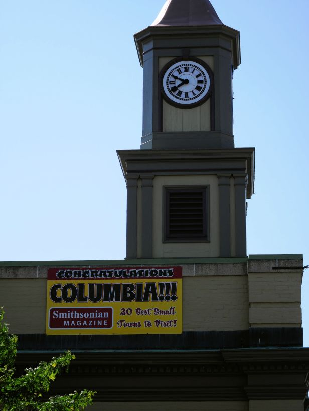 A sign in Columbia Penn.