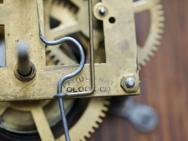 Company name stamped on the movement