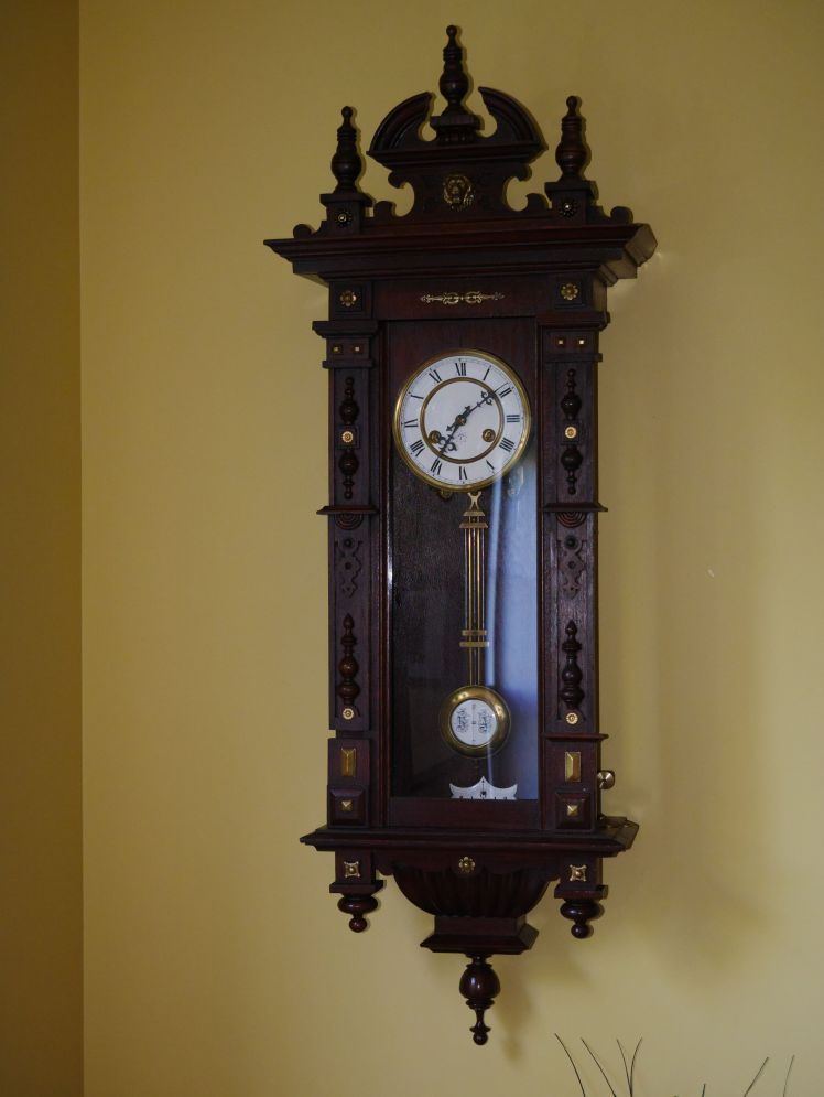Crispi clock back from the horologist