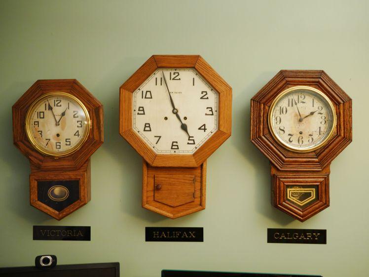 Trio of clocks