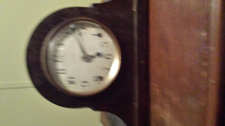 Blurred image of a clock for sale