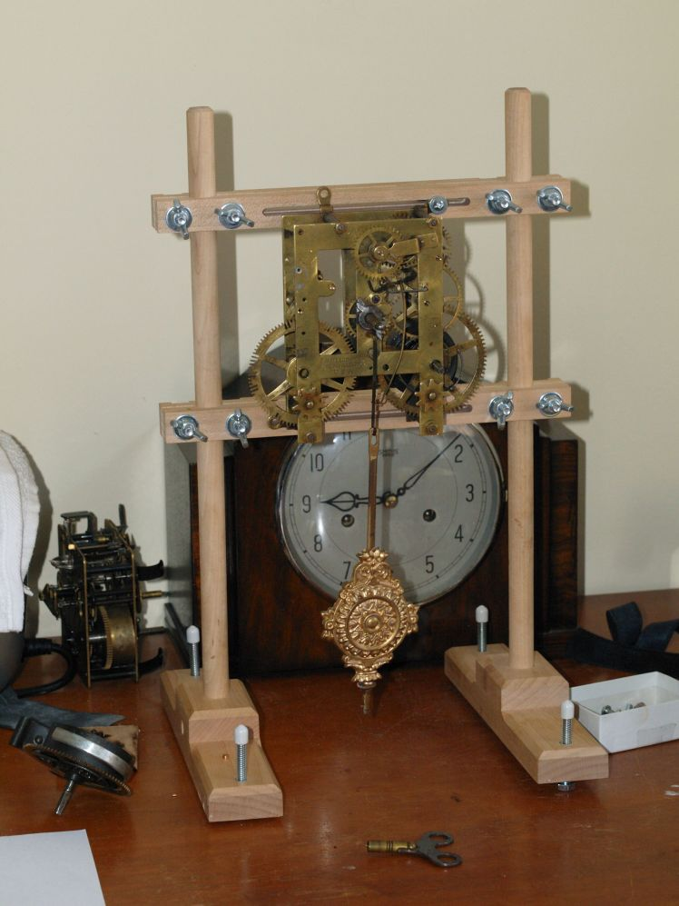 Clock movement stand