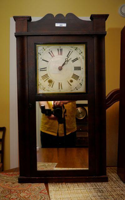 Daniel Pratt Jr. reverse ogee and splat clock