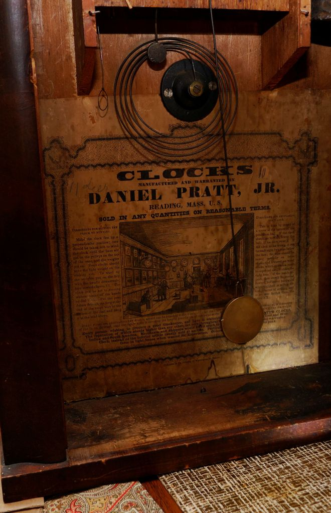 Clocks, manufactured and warranted by Daniel Pratt Jr
