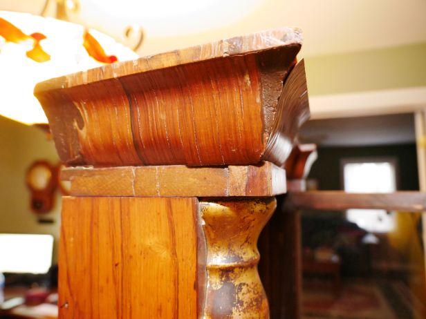Different angle of the same cornice