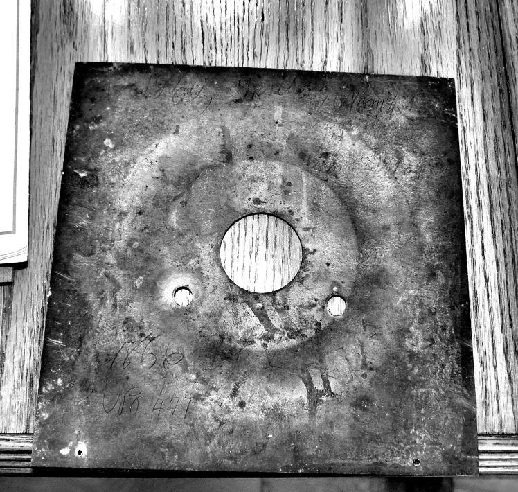 Rear of zinc dial