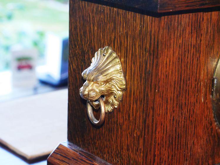 Lions head on case side