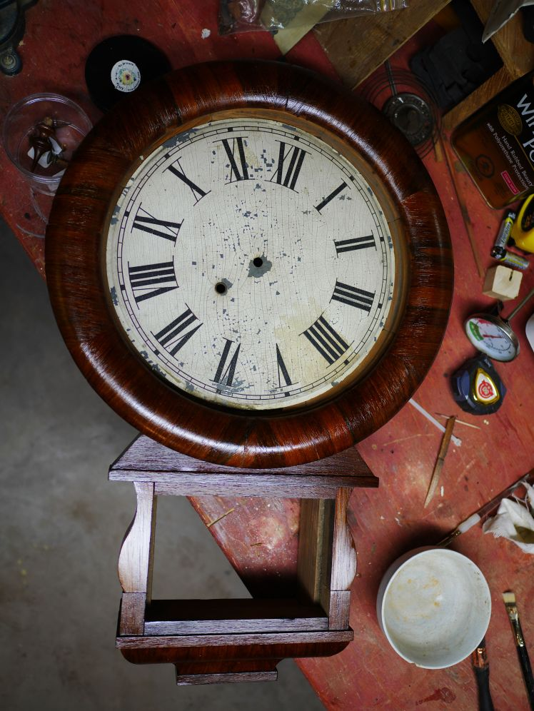 Dial with minor losses, At this point is test fit with the wood bezel