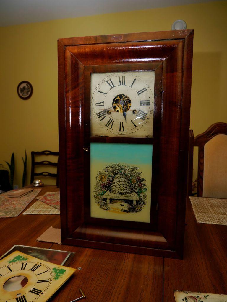 George H Clark 30-hour ogee clock