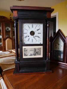 Sperry and Shaw 30-hour 4 column shelf clock