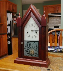 Hamilton Clock Co Gothic steeple clock