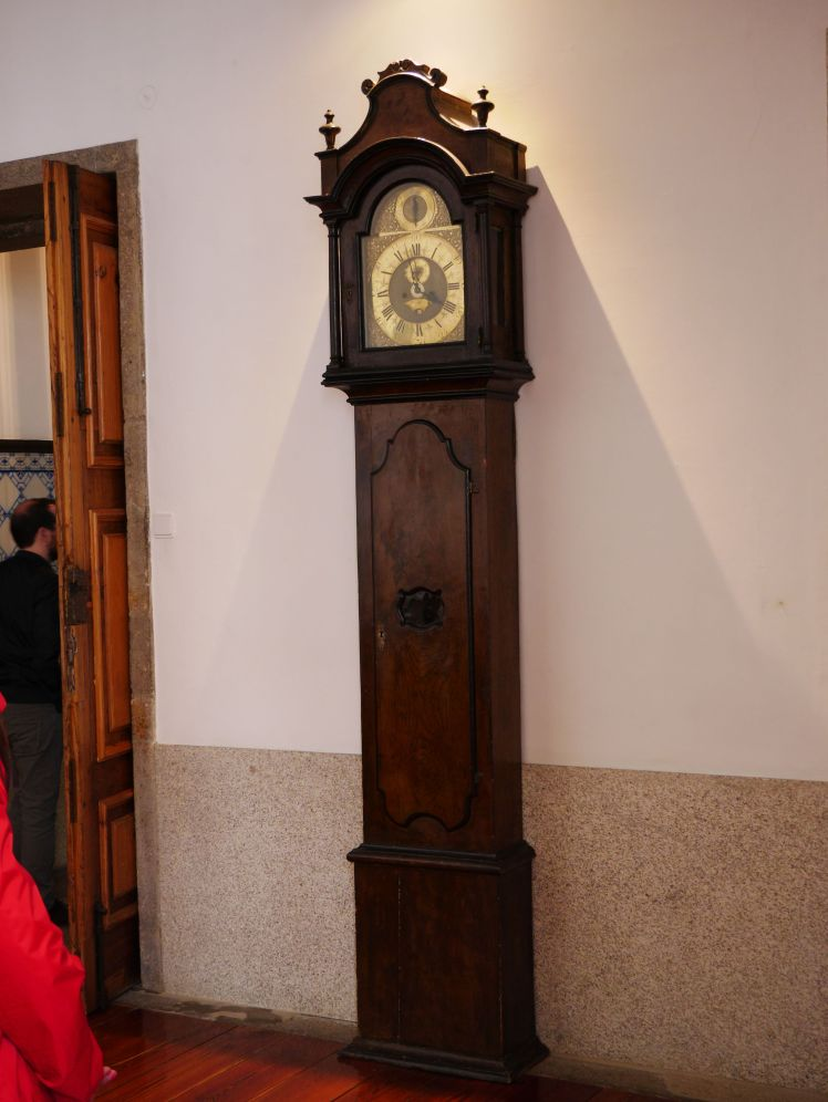 Tall case clock in a cathedral