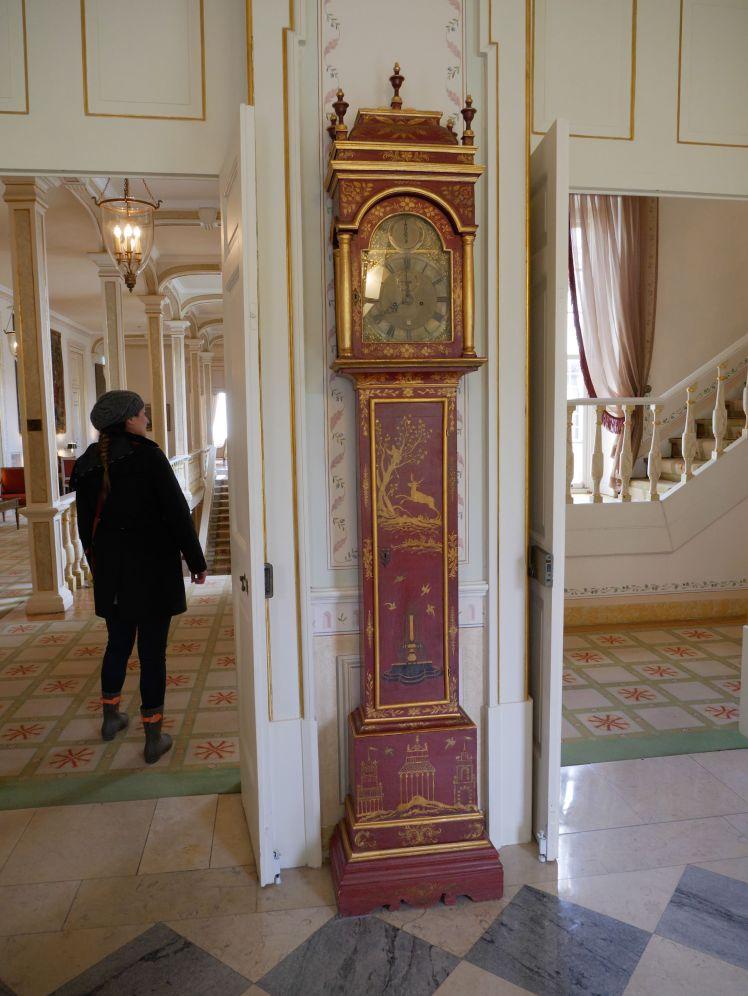 Tivoli Hotel, downtown Sintra. Unknown tall-case clock