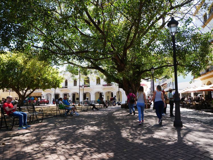 Square in historic centre of Santo Domingo