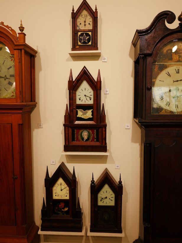Steeple or sharp Gothic clocks