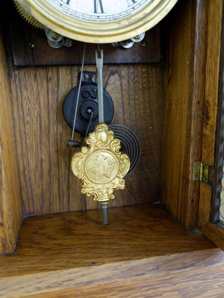 Pendulum bob with Canadian Maple Leaf