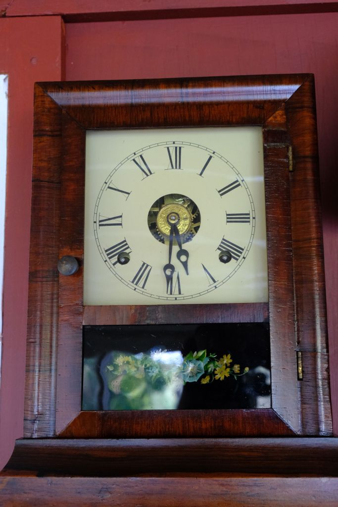 E N Welch 8-day cottage clock