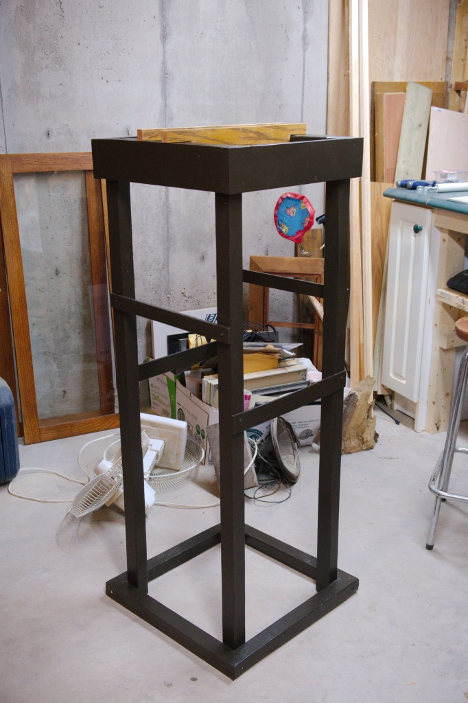 Tall case clock stand