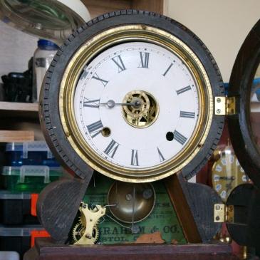 Ingraham Grecian clock